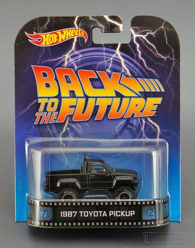 Back To The Future 1987 Toyota Pickup 1 64 Scale Die Cast Mint