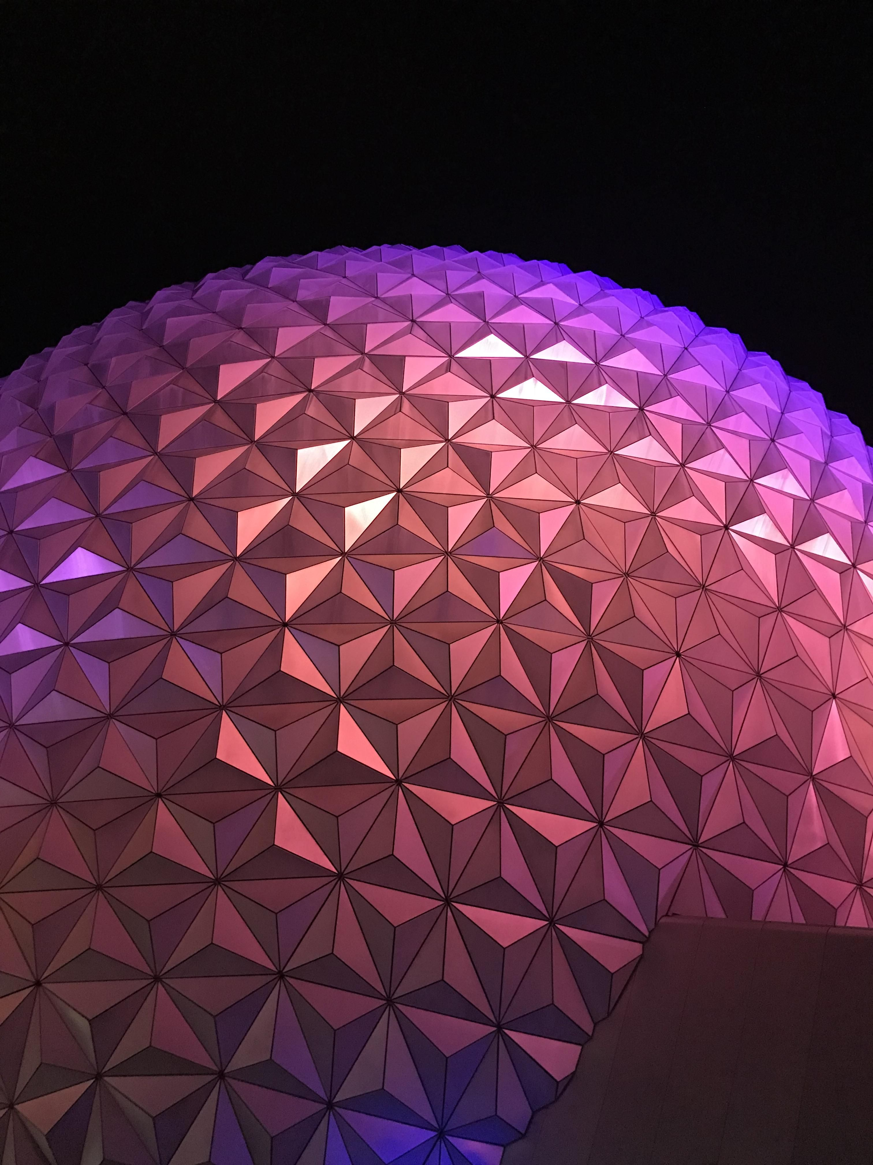 Epcots geosphere hardly looks real at night httpsift