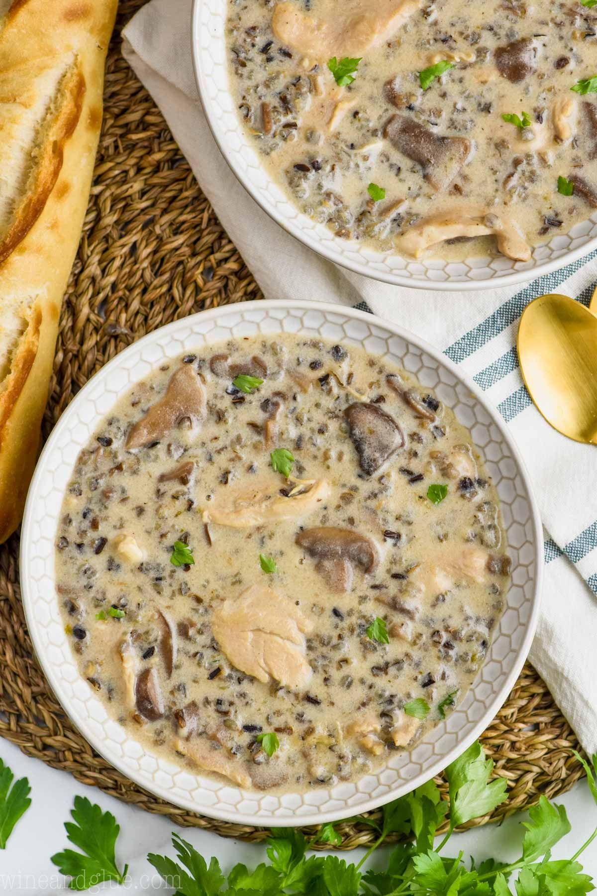 This Creamy Chicken and Wild Rice Soup is the definition