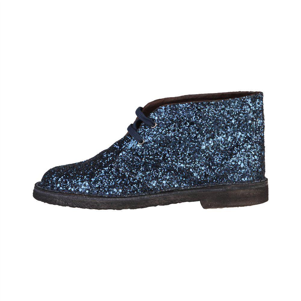 3e63d9baa74 Zapatos de mujer con brillos en color azul de Ana Lublin modelo ANJA ...