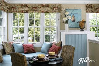 Pella Architect Series Double Hung Windows Create A Cozy Kitchen Corner.