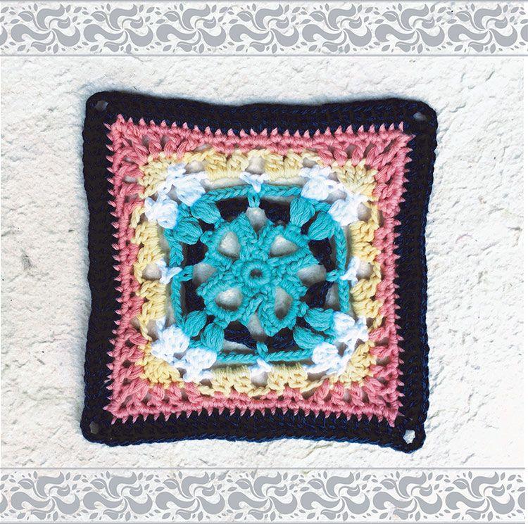 Marokkaanse hekelblokke / Moroccan crochet squares   Vrouekeur ...