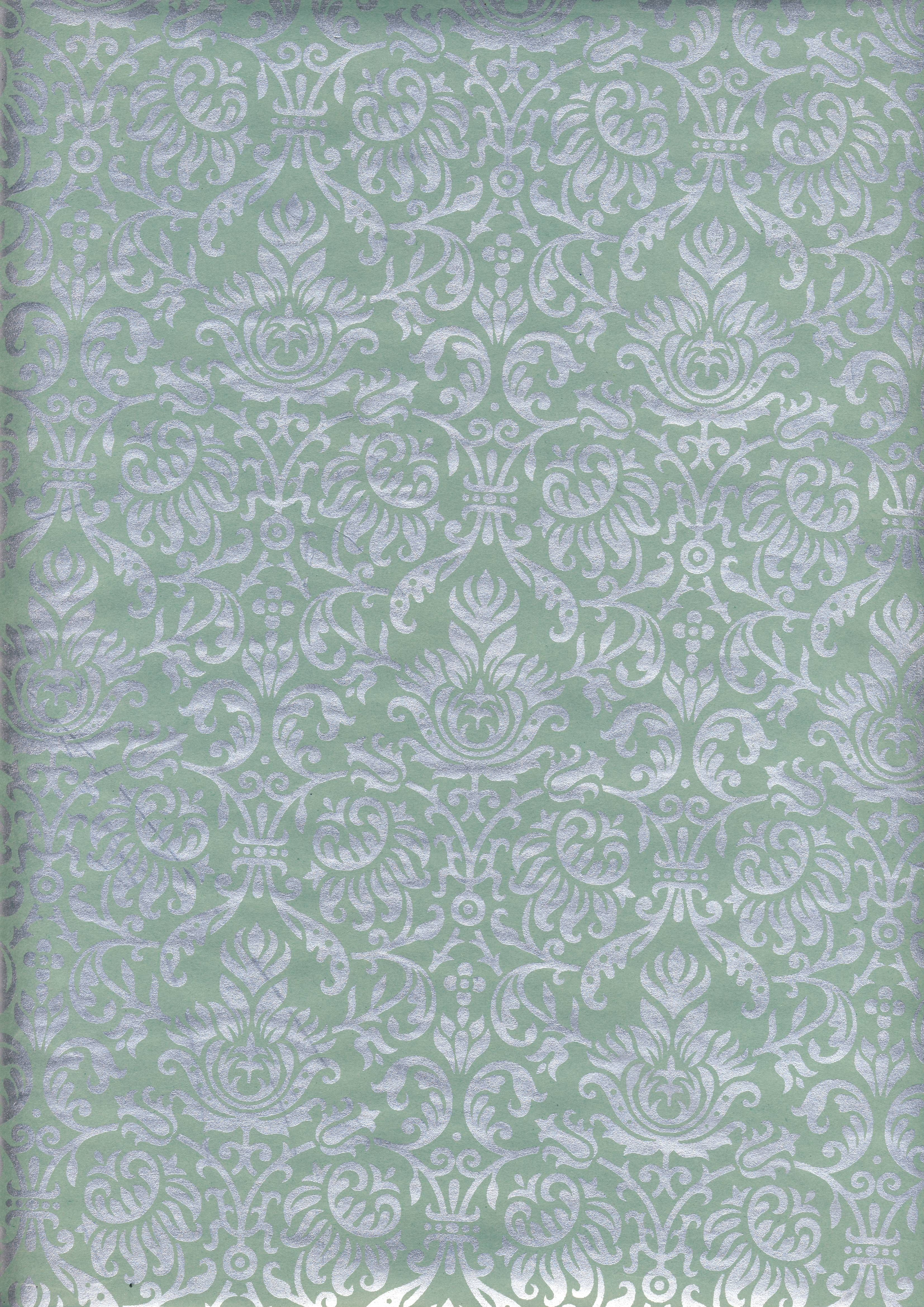 Green-Silver # 94 Wrapping Paper - 14 sheets