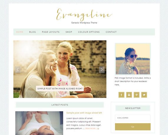 Wordpress Premade Blog / Responsive Genesis  WordPress by LovelyConfetty, $46.00