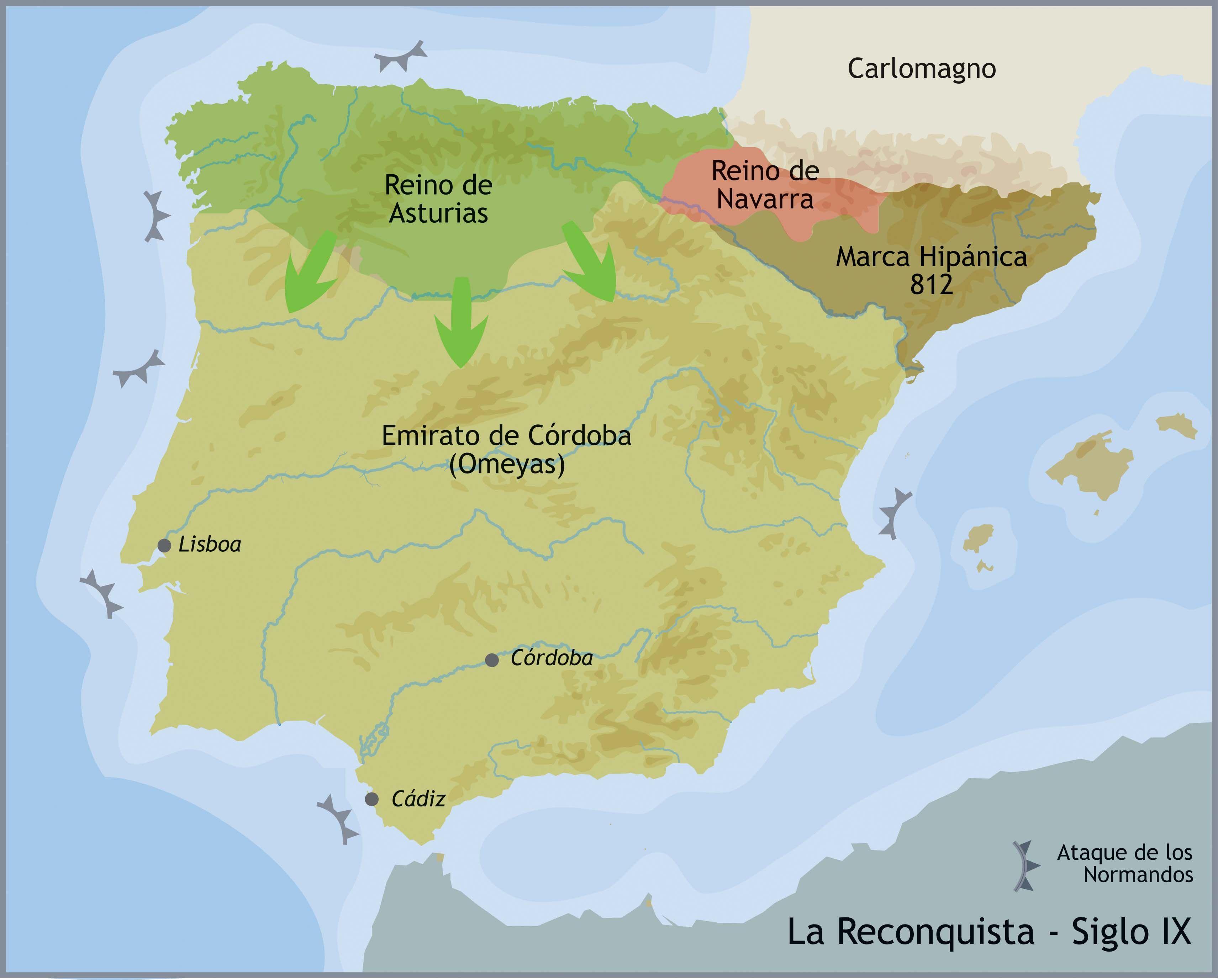 Mapa Reino De Asturias.Reino De Asturias Buscar Con Google Mapa