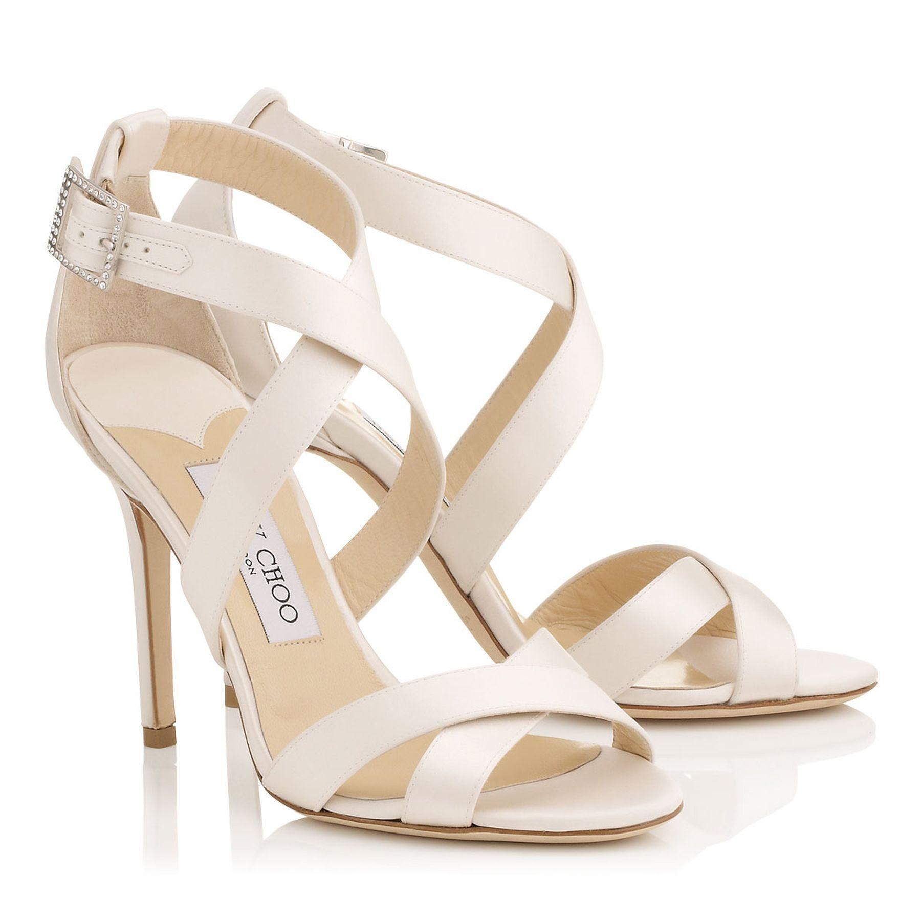 Strappy Ivory Heels