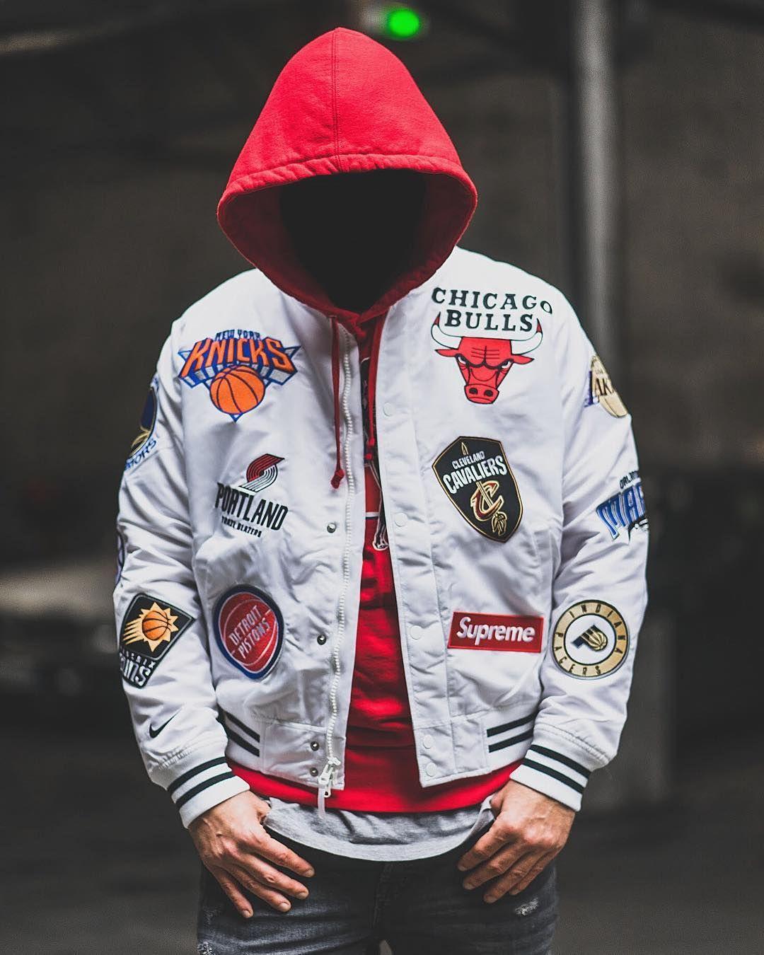 c3063b86d61b 18SS Supreme Nike NBA Teams Warm Up Jacket
