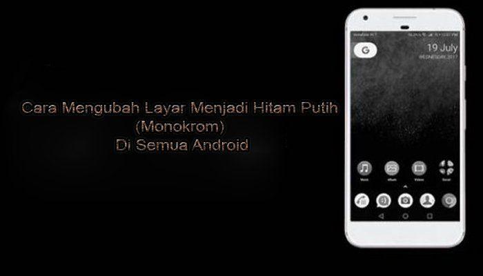 Cara Mengubah Layar Menjadi Hitam Putih Monokrom Di Semua Android Mudah Http Www Pro Co Id Cara Mengubah Layar Menjadi Hitam Putih Mo Pendidikan Sekolah