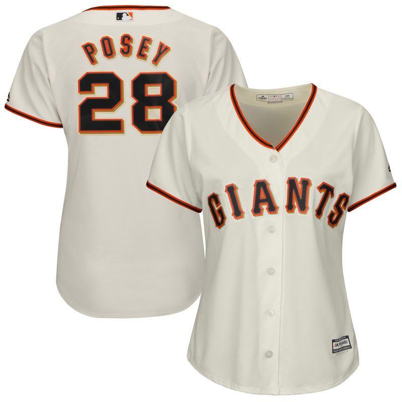 0353d2dc Buster Posey San Francisco Giants Majestic Women's Cool Base Player ...