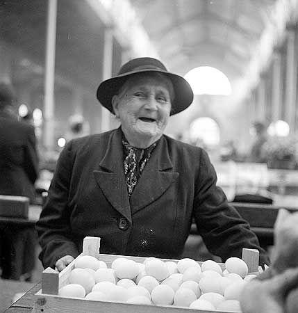 Lady at the Victorian Market, Shrewsbury Shropshire