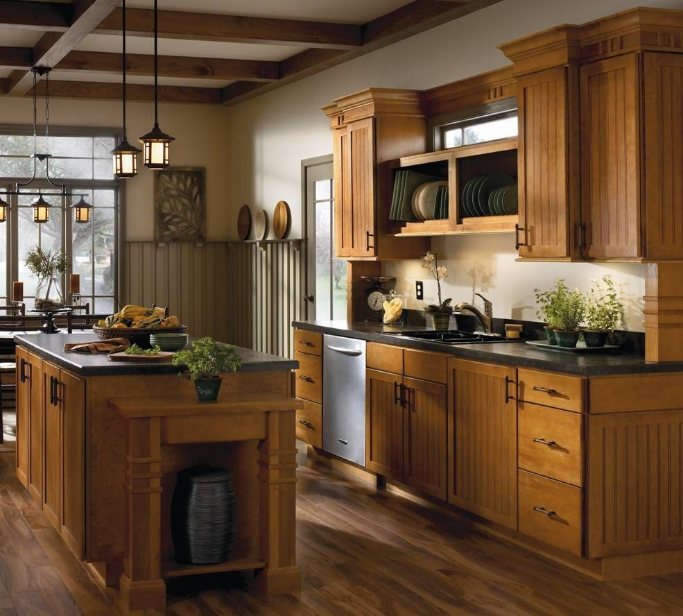 Superior Rustic Kitchen Photo By Aristokraft Cabinetry   Homeclick Community