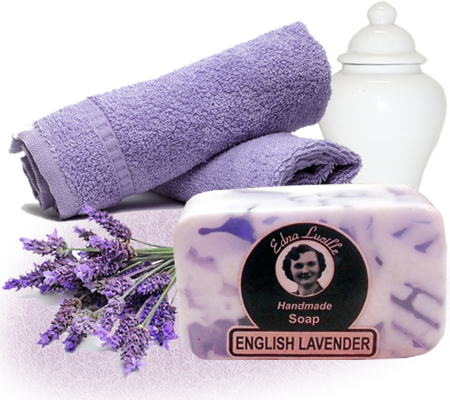English Lavender  Handmade Soaps > Edna Lucille English Lavender Handmade Soap 7oz