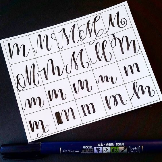 Ways To Write The Letter M By Letteritwrite  See Also The