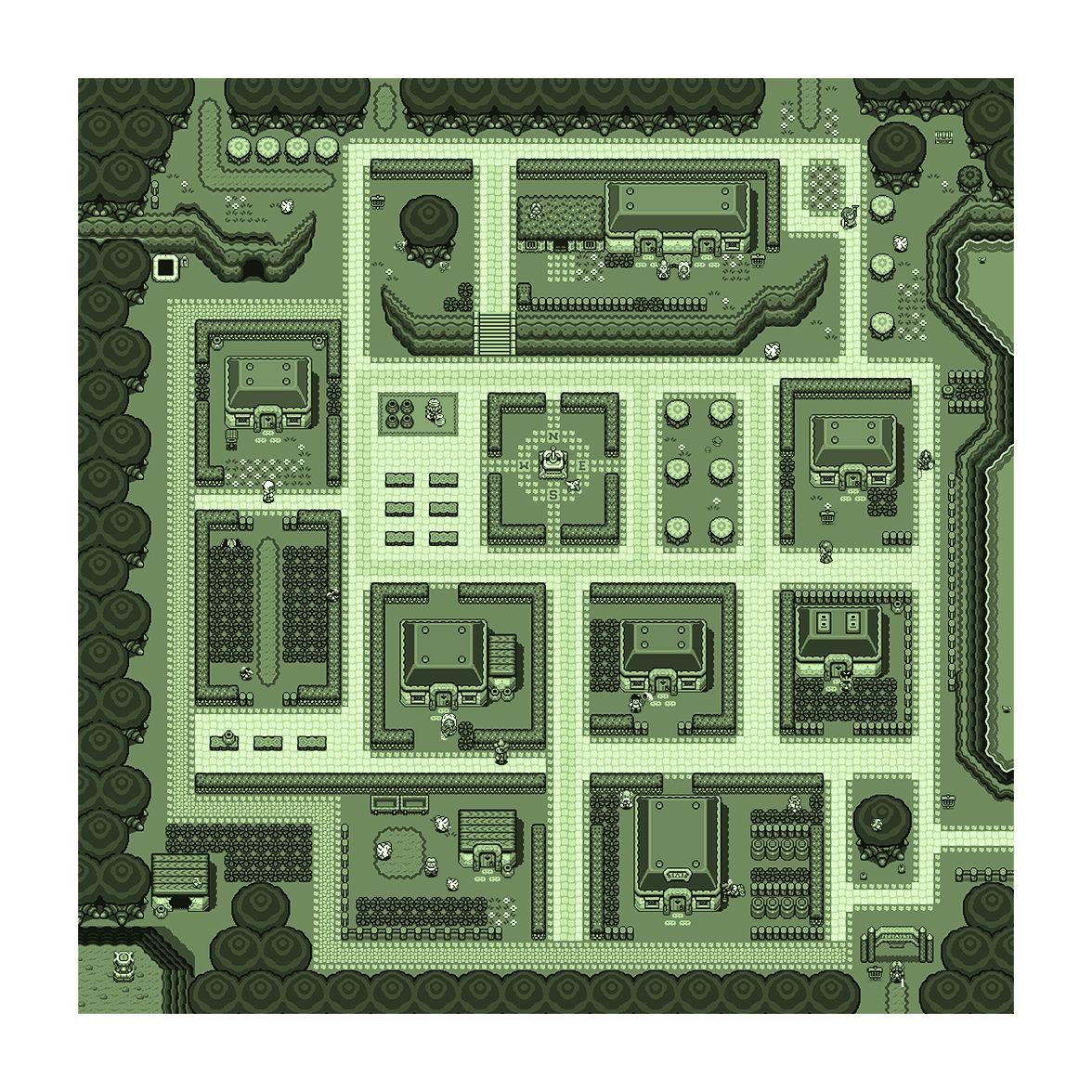 Legend Of Zelda Map Link To The Past Kakariko Village Super Etsy Retro Map Zelda Map Legend Of Zelda Ideas for zelda link to past map
