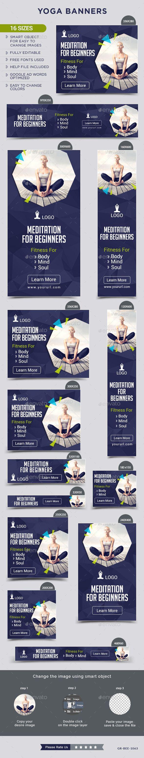 Yoga Banners Pull Up Banner Design Banner Banner Ads