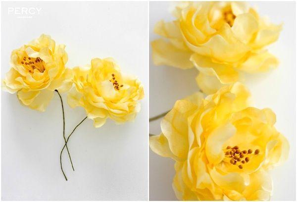 Yellow silk flowers by percy handmade flowers pinterest silk yellow silk flowers by percy handmade mightylinksfo Images