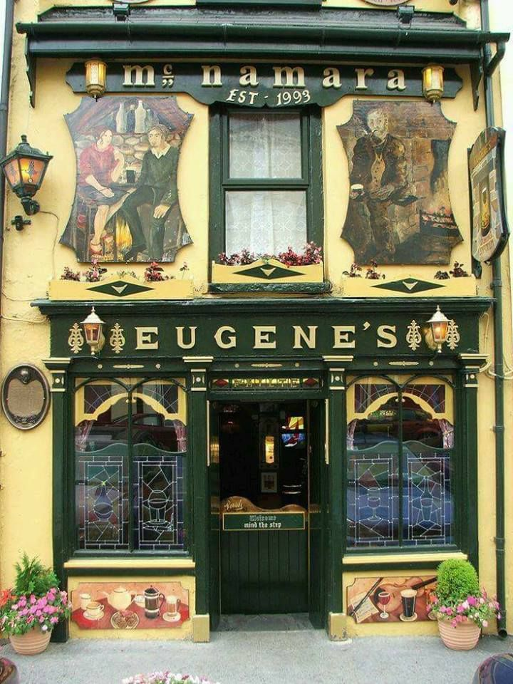 Let's have an Irish coffee at Eugene's Bar on Main Street in Ennistymon, County Clare, Ireland