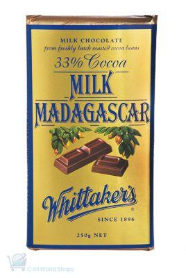 Milk Madagascar Whittakers 250g Shop New Zealand