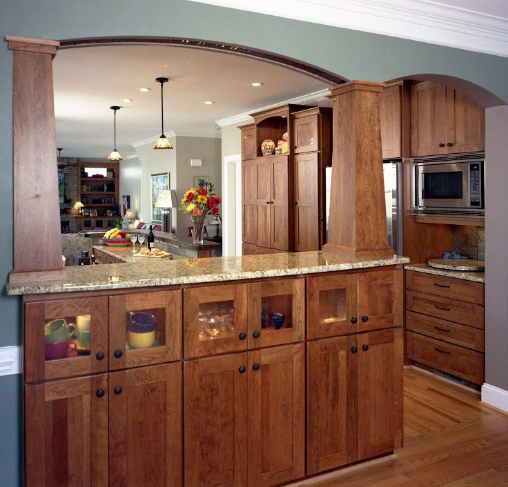 Open Kitchen Home Design: I Really Like This Partially Open Kitchen Design