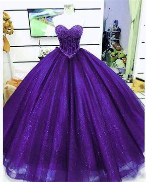 2018 Sparkly Burgundy Quinceanera Dresses Beaded Pearls Sweet 16 Dress vestidos de quinceañera