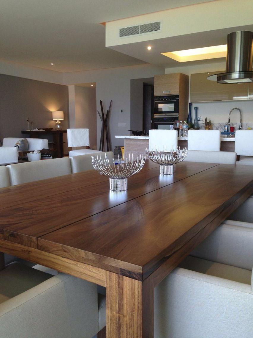 Mesa de comedor parota, silas tela, todo by Doblee | Sala de estar ...