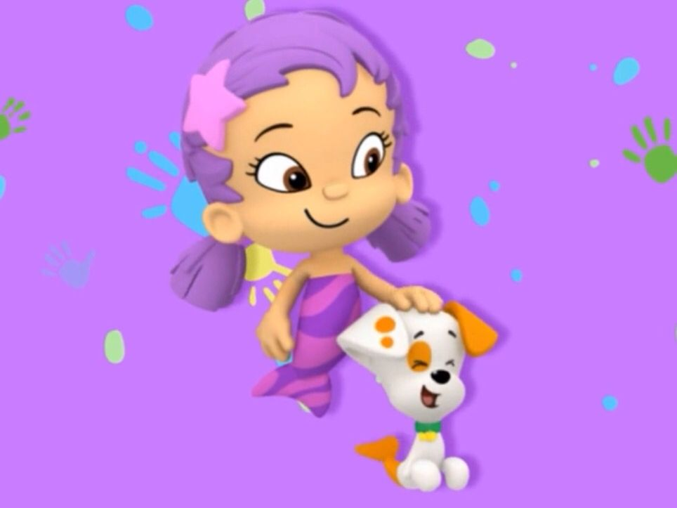 Oona is petting bubble puppy  | Nick Jr  in 2019 | Bubble