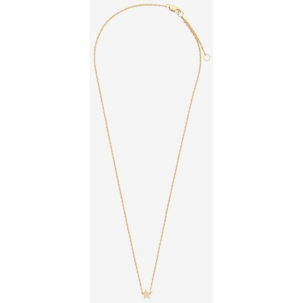 Jennifer Zeuner Lisan Diamond Detail Mini Star Necklace ($99) ❤ liked on Polyvore featuring jewelry, necklaces, gold, jennifer zeuner necklace, jennifer zeuner jewelry, star necklace, jennifer zeuner and adjustable necklace