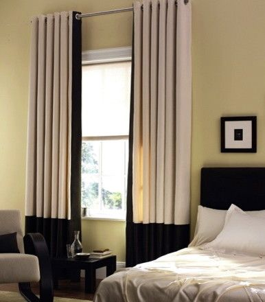 Grommet Panels With A Grand Band   Modern   Window Treatments   Tampa    Curtain Pros