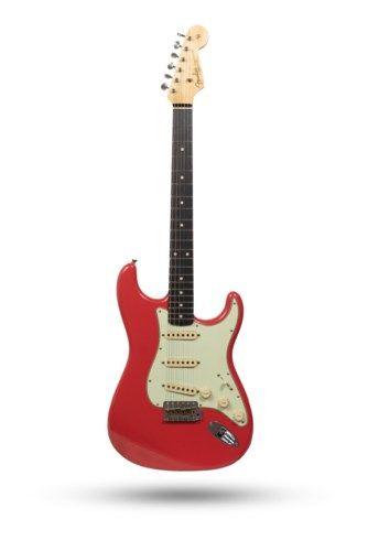 2019 Fender Custom Shop '62 Stratocaster Journeyman Relic Faded Fiesta Red > Guitars Electric Solid Body | California Vintage Guitar & Amp #vintageguitars