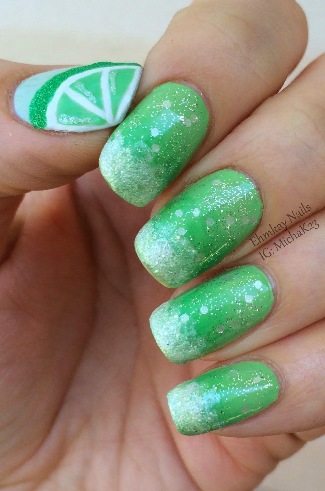 Cinco de Mayo Nails: Margarita Nail Art | Nail nail, Fun nails and ...
