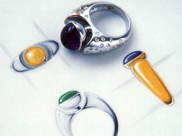 Bague Hémisphère or blanc Améthyste & diamants