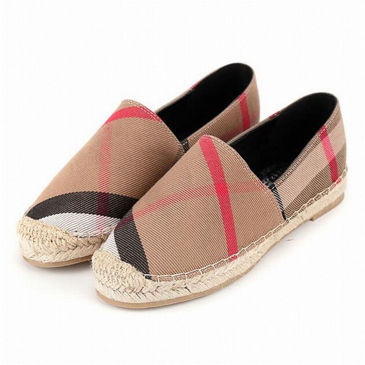 Tendance Chaussures 2017/ 2018 : female flat shoes Women stripe gingham  flats hemp rope casual