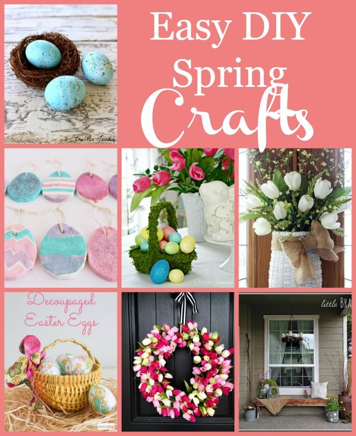 Easy Diy Spring Crafts Spring Crafts Diy Spring Crafts Spring Diy