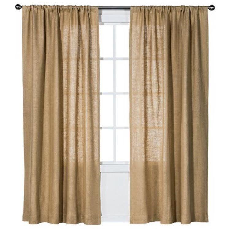 Burlap curtain, curtains, burlap, drapes, drapery, burlap window treatment, curtain panel, rustic decor, home decor, custom sizes available #burlapwindowtreatments