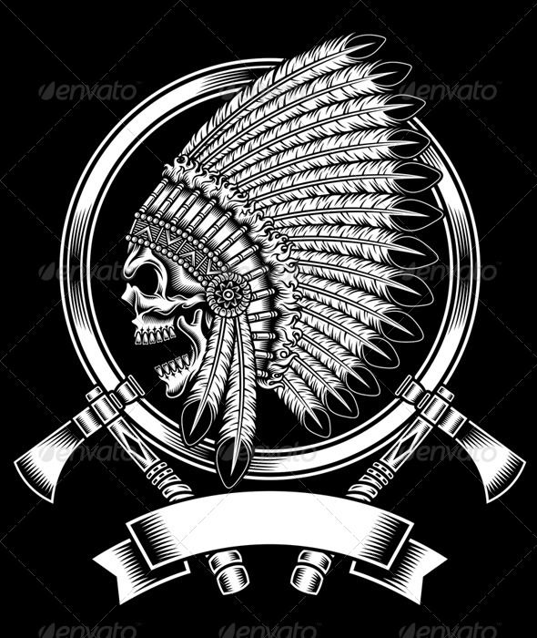 native american indian chief skull with tomahawk native american indians tattoo and tattoo. Black Bedroom Furniture Sets. Home Design Ideas