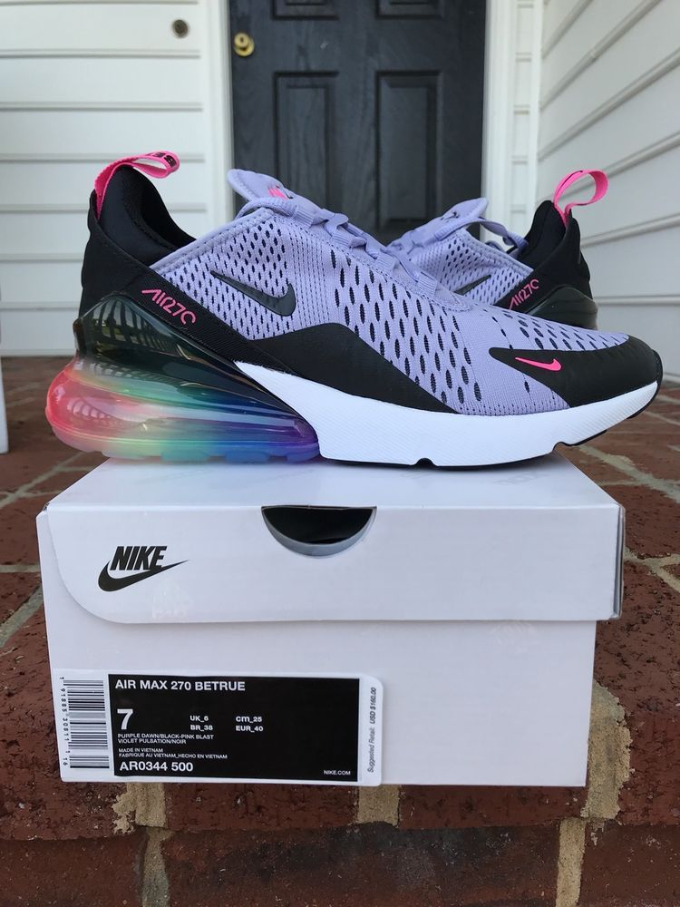 41b3d8a14d14 Nike Air Max 270 Be True Multi Color size 7 New Nike.com (eBay Link ...