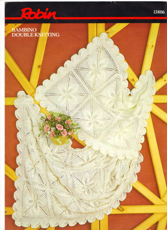 Vintage baby blanket pram cover knitting pattern PDF instant ...