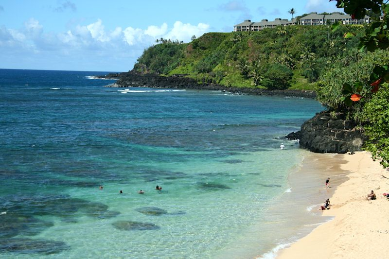 Secluded beach near Princeville Kauai | Princeville, Kauai ...