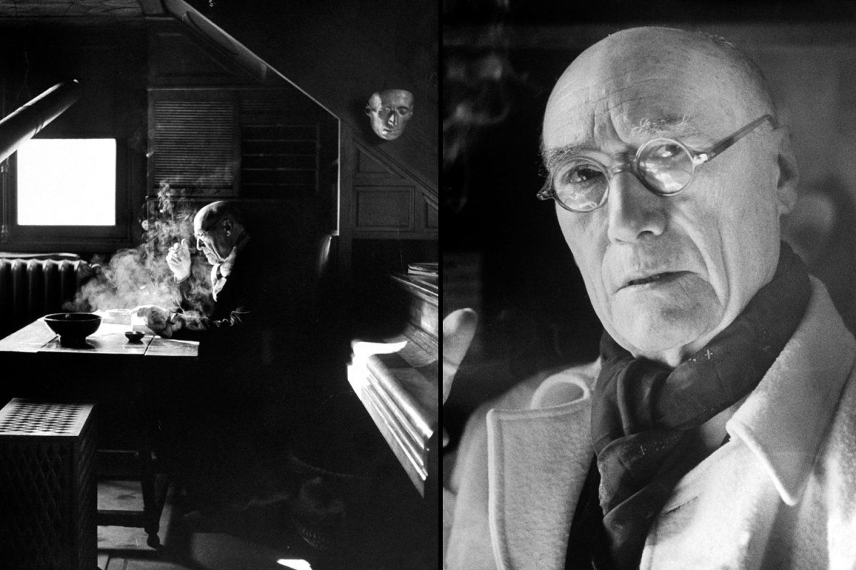 1947 Nobel laureate #Andre #Gide, at work and in a portrait by LIFE's Yale Joel. [Yale Joel/Time&Life/Getty Images]