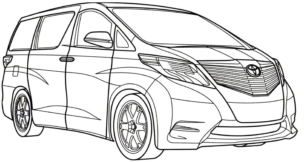 toyota mtmv coloring page