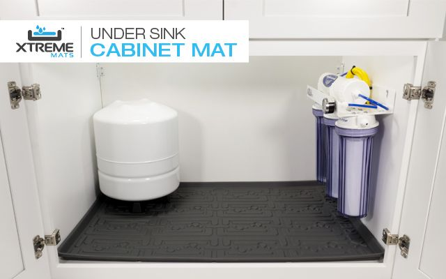 Under Sink Cabinet Mat Protects Against Plumbing Leaks From Your