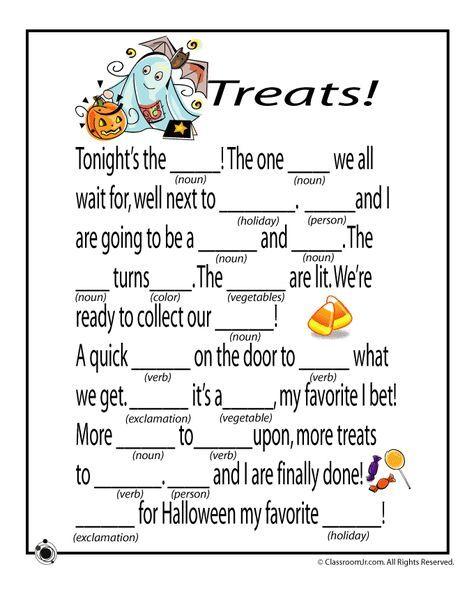 Halloween Mad Libs Halloween Mad Libs - Treats! – Classroom Jr ...