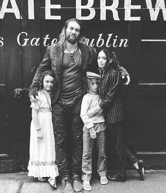 Jason Momoa And Lisa Bonet With Kids