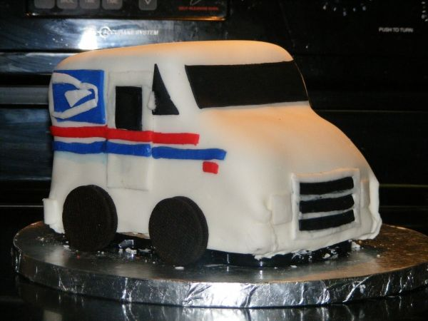 Prime Mail Car Cake Truck Birthday Cakes Cool Birthday Cakes Funny Birthday Cards Online Alyptdamsfinfo