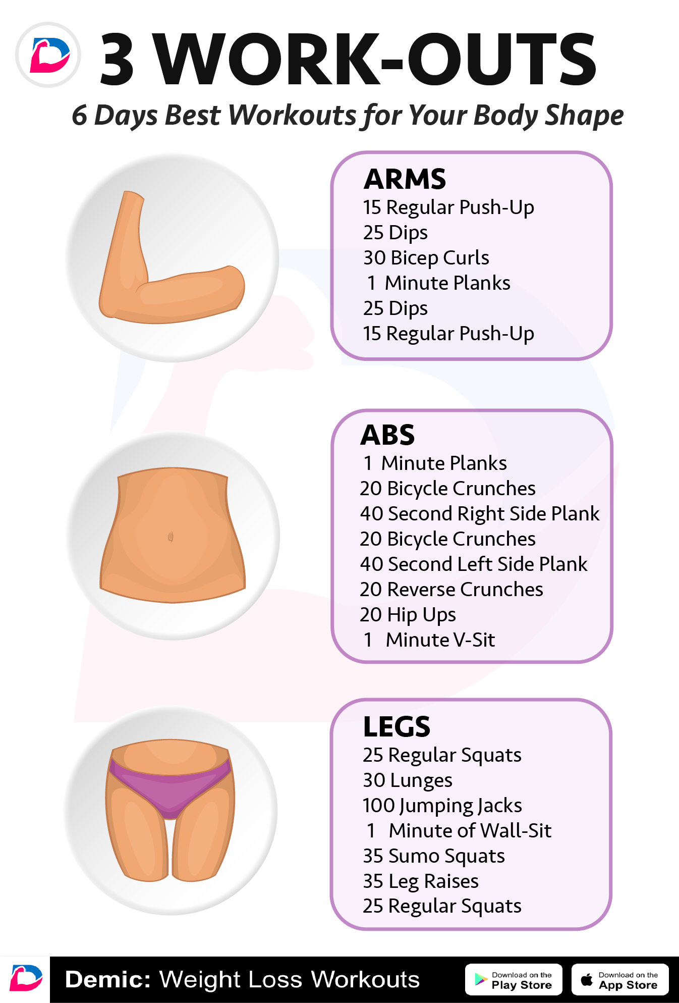 Best Workouts for Your Body Shape | Demic: Fitness | Workout