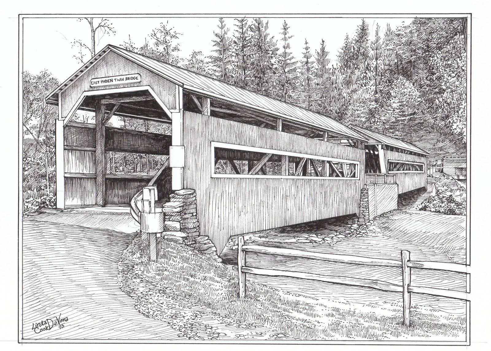 Old Farms And Cabins Drawings