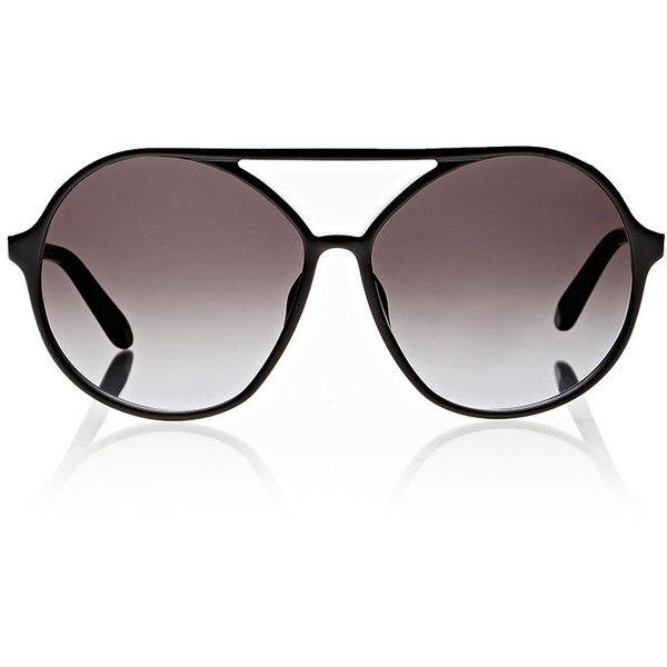 Valentino Round Aviator Sunglasses (980 BRL) ❤ liked on Polyvore featuring accessories, eyewear, sunglasses, multi, aviator style sunglasses, black aviators, glasses aviator, acetate aviator sunglasses and round aviator sunglasses