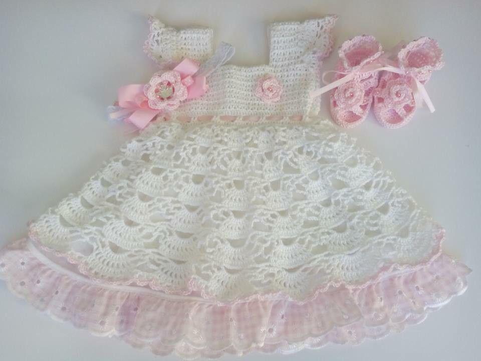 Vestido de bebe a crochet | tejido | Pinterest