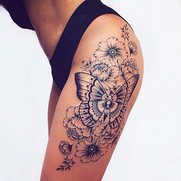 65 Badass Thigh Tattoo Ideas for Women | Page 6 of 6 | StayGlam