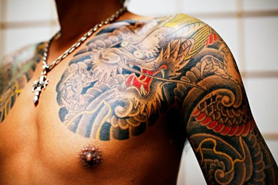 Man Yakuza Cigar Tattoo: The Popularity Of Yakuza Tattoo Design: Yakuza Tattoo